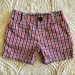 Carter's Red, White and Blue Plaid Shorts 9 Month